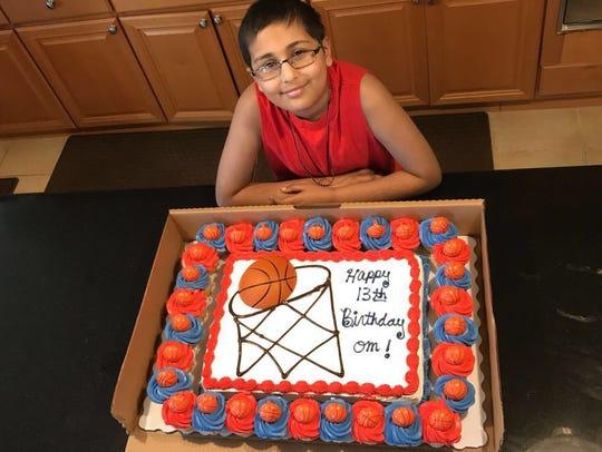 Om Parikh of Monroe on his 13th birthday.