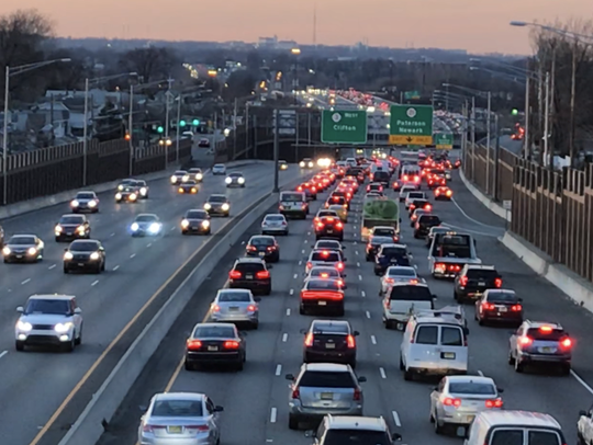 Route 3 through Rutherford and Lyndhurst carries 130,000
