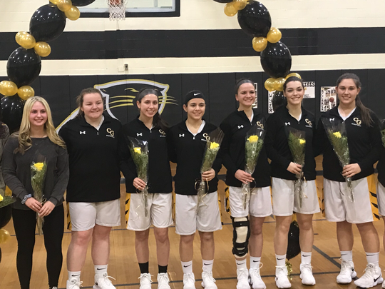 Cedar Grove honored its seven senior players and two team managers prior to a game against Orange.