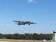 A B-17 bomber leaves Destin, Florida headed for Hattiesburg