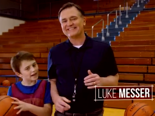 Luke Messer in his latest campaign ad.