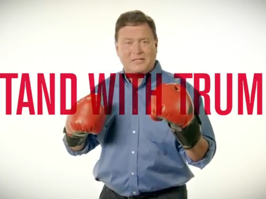 Screenshot of campaign ad for Todd Rokita, one of three