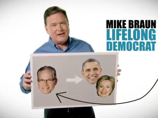 Screenshot of Senate campaign ad by Republican Todd
