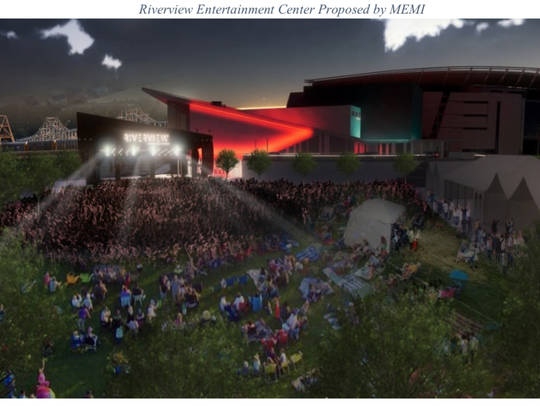 A rendering of the temporary outdoor stage the CSO