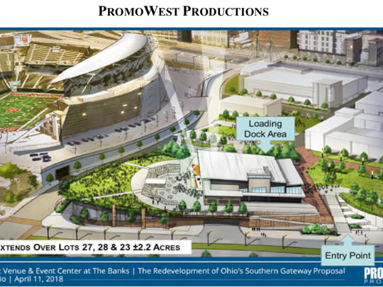 A rendering of PromoWest's proposed concert venue