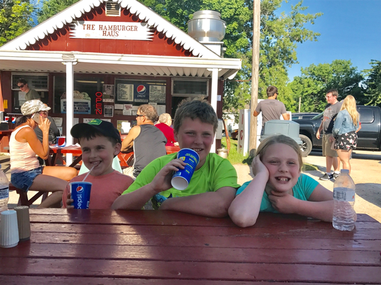 The Hamburger Haus hidden in the small hamlet of Dundee near the Kettle Moraine Forest northern unit is a must stop for families.