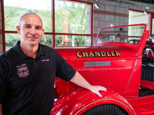 Chandler Fire Chief Jeff Clark at Chandler Fire Department