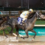 Airoforce took Churchill Downs' Grade II Kentucky Jockey Club Stakes on Saturday in his debut race on dirt.