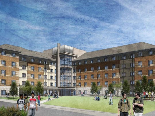 Among new building projects at the University of Nevada, Reno are a new residence hall at Cooper Court.