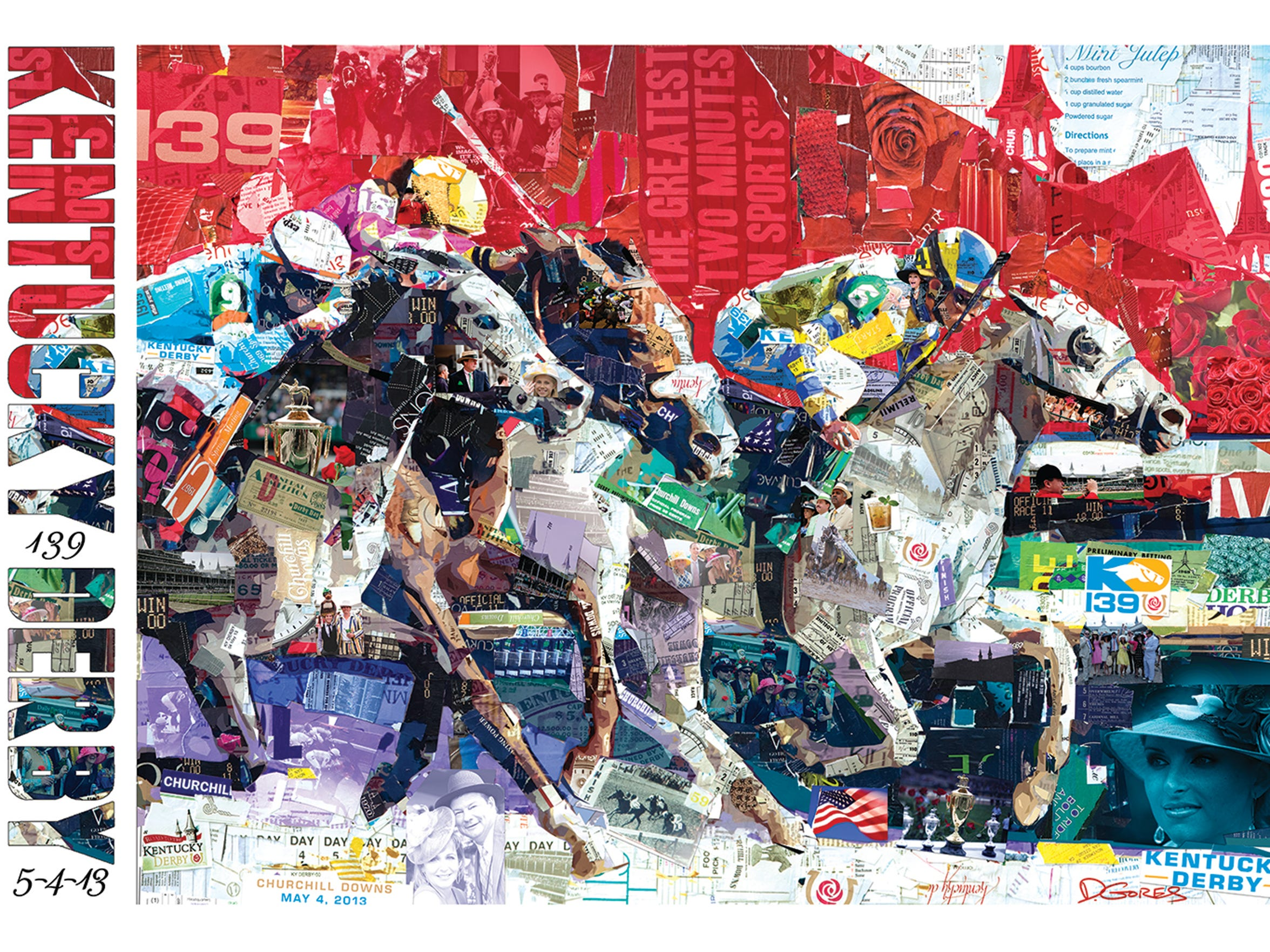 Derek Gores designed the commemorative poster created for the 2013 Kentucky Derby.