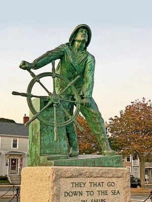 The iconic Gloucester Fisherman's Memorial looks out to the sea from the walkable, bikeable promenade parallel to the causeway.