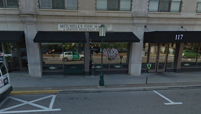 An image of Mitchell's Fish Market in downtown Birmingham from Google Street View. The restaurant recently closed.