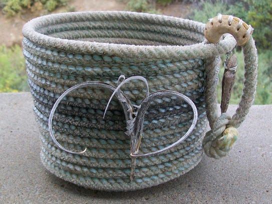 Mulimedia basketry by Mike Shalett will be featured