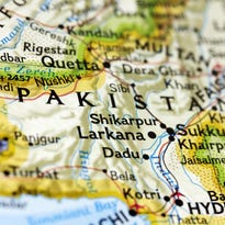 A map of Pakistan showing the city of Quetta where an American drone killed Taliban leader Mullah Akhtar Mansoor.