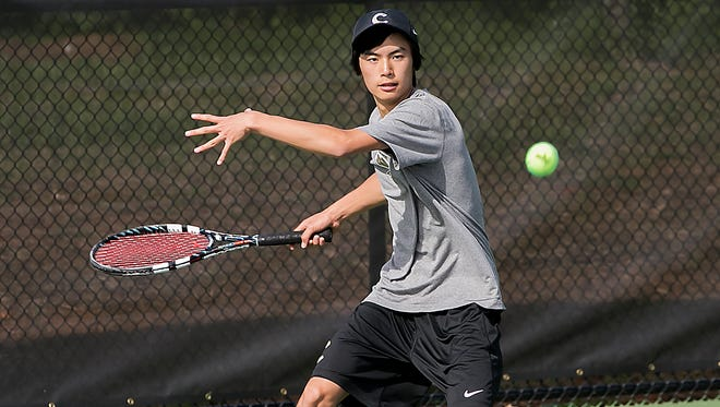 Nathan Zou of Central Middle School defeated MTCS' Will Reeves on Monday.