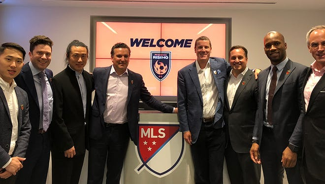 Phoenix Rising FC officials meet wtih MLS Commissioner Don Garber and Deputy Commissioner Mark Abbott on Wednesday, July 25, 2018.