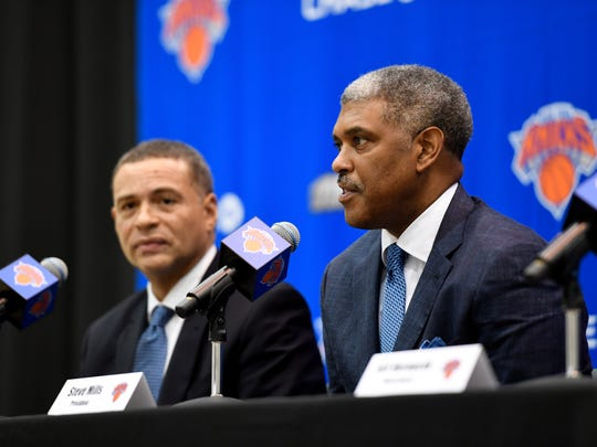 Knicks general manager Scott Perry and president Steve Mills.