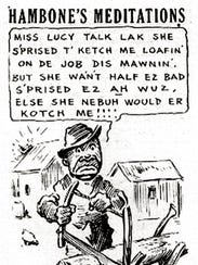 """Increasingly frustrated with the coverage of the strike, African-American ministers called for a boycott of the CA and the Press-Scimitar. They also voiced outrage at the CA's continuing publication of """"Hambone's Meditations."""" In the daily cartoon, Hambone used exaggerated black dialect."""