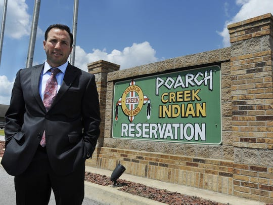 Robert McGhee, governmental relations adviser with the Poarch Band of Creek Indians.