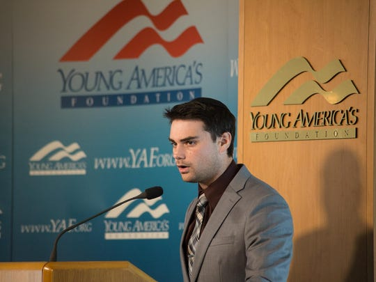 Political commentator Ben Shapiro was shouted down on a University of Wisconsin campus in 2016.