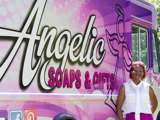 Dieshawn Holmes sells her handmade soap from her truck.