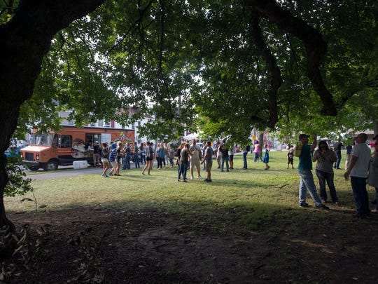 There was still a line for Uncle Pau's Pretzels at around 5 p.m., a returning favorite at What The Food Trucks.