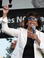 U.S. Congresswoman Maxine Waters (D-Calif.) speaks