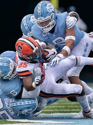 With their top two running backs opting out of the season because of the pandemic, Syracuse rushed for just 68 yards in Saturday's opening loss to North Carolina.