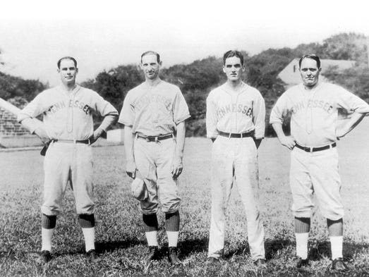 UT coaching staff and trainer, 1927.  Left to right....Bob