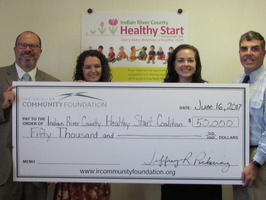 Indian-River-Community-Foundation-check-presentation-Indian-River-County-Healthy-Start-Coalition.JPG