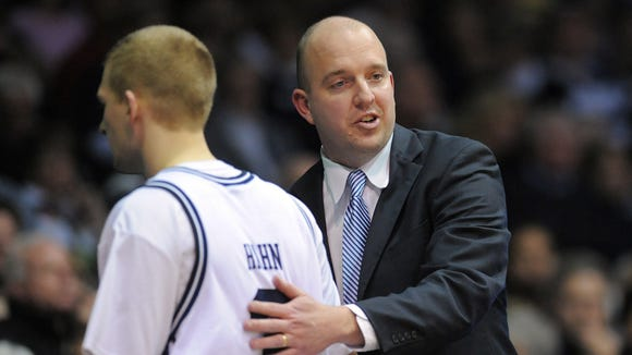 Former Butler assistant Matthew Graves (right) returns to Indy with his South Alabama team to play IUPUI.