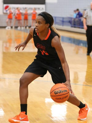South Gibson's Christen King is playing as a junior this year after sitting out last season.