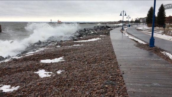Here's where my run ended in Duluth on Christmas Day.