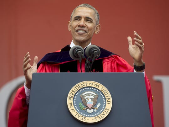 President Barack Obama delivers the commencement address