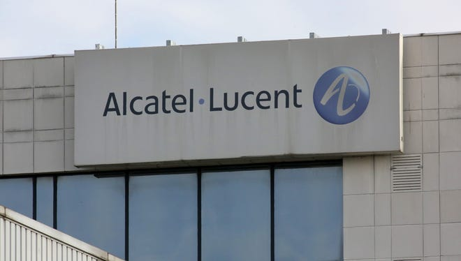 An exterior view of the Alcatel-Lucent unit in Colombes, France.