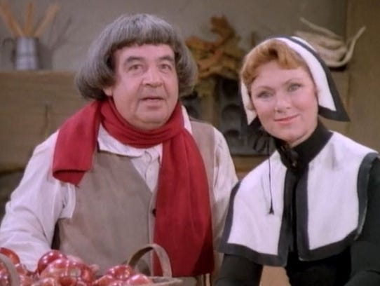 Tom Bosley and Marion Ross in the 'Happy Days' episode,