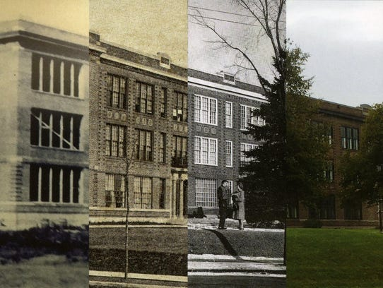 A photo showing Technical High School at different