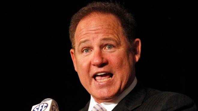LSU coach Les Miles kept it light at SEC Media Days on Wednesday.