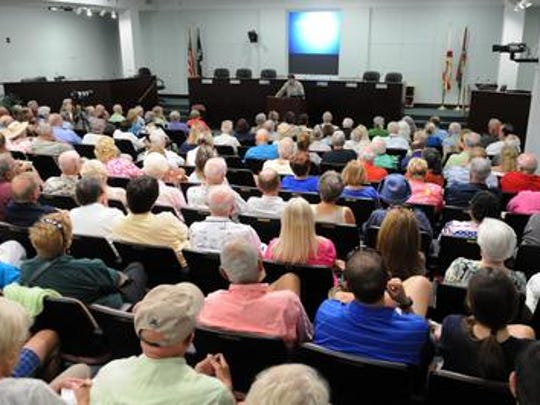 ACT for America meeting in the Brevard County Commission chambers at the Viera government complex