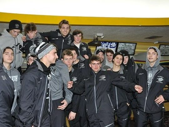 Plymouth High School boys hockey players got in some bowling, with their dads, at Northfield Lanes on Dec. 1.