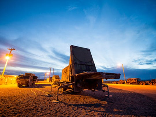 Vehicles used in the Patriot Integrated Air and Missile Defense System are pictured.