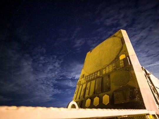 The radar truck of a Patriot air defense system.