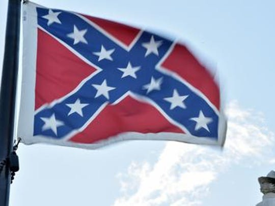 A Confederate flag flies in Columbia, South Carolina,