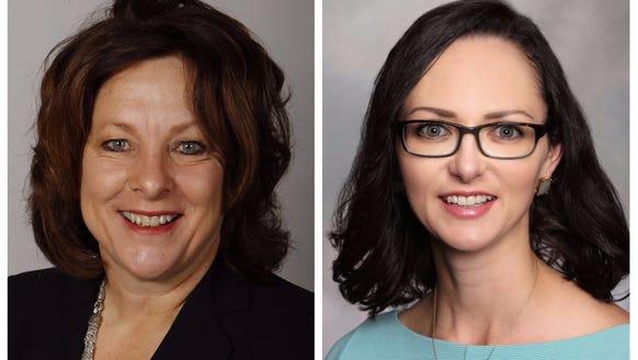 Annette Sweeney, left, and Amanda De Jong