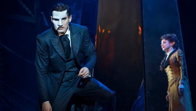 """Gardar Thor Cortes and Meghan Picerno play The Phantom and Christine in """"Love Never Dies."""""""