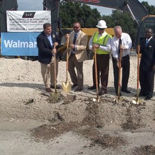 Mayor Bob Buckhorn joined city and Walmart officials in breaking ground on the new facility.