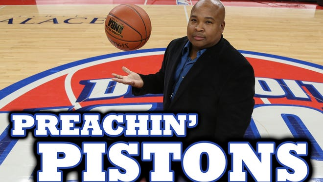 "Vince Ellis hosts the ""Preachin' Pistons"" podcast at the Detroit Free Press."