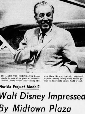 Walt Disney visited Rochester's Midtown Plaza in 1966.