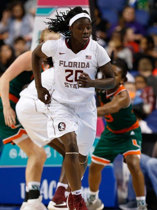 NCAA Womens Basketball: ACC Conference Tournament-Florida State vs Miami