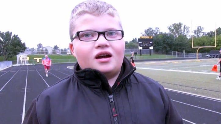 Drew Yost, football team manager, Oakville High School.